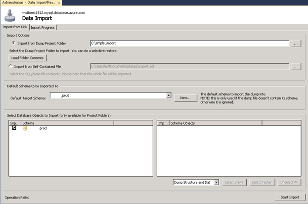 Import Database to Azure Database for MySQL or for MariaDB